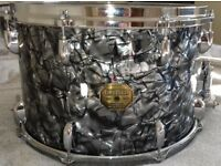 Gretsch USA 15 x 10 Snare Drum in original Black Diamond Nitron Wrap