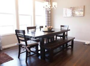 Locally Crafted Reclaimed Solid Wood Dining Table $1595, bench $695 &more! By LIKEN