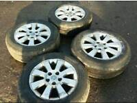 Genuine Vauxhall 15 inch alloys with near new tyres