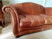 Laura Ashley Penhurst Leather Sofa (also selling fabric equivalent and chair)