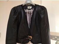 Alice Temperley leather jacket, UK 12