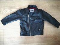 Next Baby Boy Black Leather Jacket