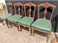 Set of four Victorian mahogany dining chairs