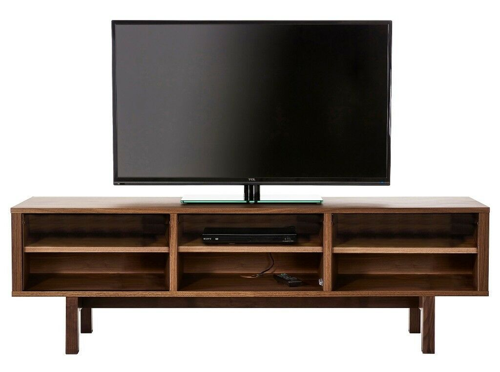 rrp 300 ikea 39 stockholm 39 sideboard solid ash walnut veneer tv bench with storage in. Black Bedroom Furniture Sets. Home Design Ideas