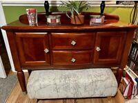 Large Wooden Dresser Sideboard Vintage Antique Cabinet