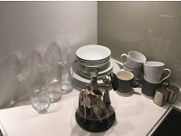 Crockery, Glasses and Cutlery