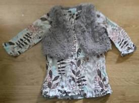 Next dress and gillet age 9-12 months