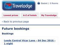 Tomorrow night Travelodge Leeds central vicar lane