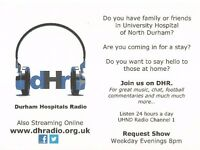 Durham Hospitals Radio - Community Radio for patients, visitors, families and friends.