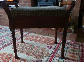 OLD FASHIONED PIANO STOOL