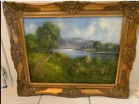 Oil painting by R Witchard