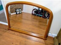 Solid Pine framed mirror. Great condition, £20
