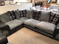 Large grey corner sofa