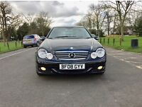 2008 Mercedes C180 Compressor .. Automatic .. low miles 58000 only .. black mercedes Automatic