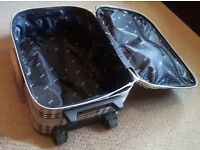 Tan and Black Plaid Travel Suitcase/Carry-On