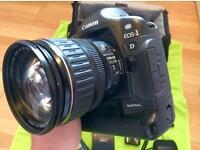 Canon EOS 1d digital slr plus lens and bag.