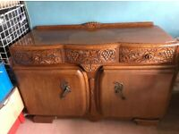 1960'S ANTIQUE SOLID OAK SIDEBOARD - A BRENNER PRODUCT LONDON