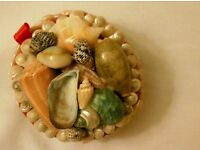 *CHARITY SALE* Beautiful HANDMADE vintage wooden jewelery box with seashells