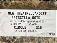 2 Priscilla Queen of the Desert Tickets