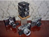 vintage cameras X4