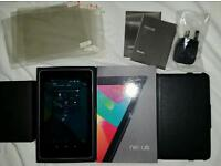 Nexus 7 google high spec tablet boxed with extras