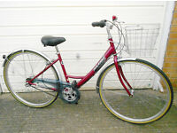 "RALEIGH CAPRICE Ladies Bike 17"" Frame Ideal Petite 700C Alloy Wheels 3 Speed Shopping BasketIn V.G.C"