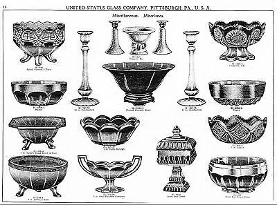 Us Glass Co Pressed   Blown Glassware Catalog 1926