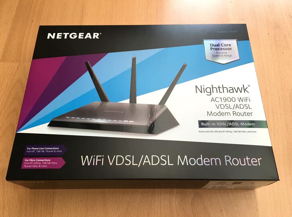 Netgear Nighthawk D7000v2 Router ADSL2,VDSL | in Gorebridge, Midlothian on