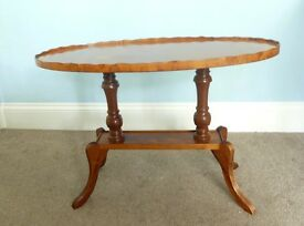 Yew Occasional Table / Coffee Table lots of detail Very good quality Approx 40 years old