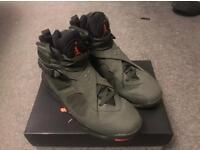 Nike air Jordan 8 take flight Uk size 8 us 9 green
