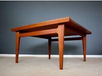 Rare Danish Finn Juhl Teak Coffee Table Mid Century Retro Vintage 60s