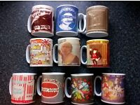 SEX PISTOLS SINGLES PICTURES ON A SET OF 10 MUGS