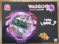 2 Wasjig jigsaws. Commuting Chaos (made up once only) and High Street Hassle (new and sealed)