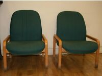 Two fabric covered chairs for sale