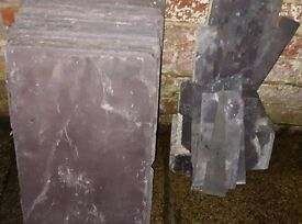 "Welsh roofing slates vintage used/reclaimed 12"" x 20"" plum"