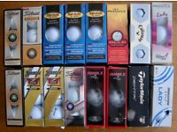 Golf balls unused in boxes