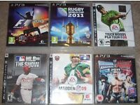 PS3 Playstation Games Bundle - Various Sports x 11 off - ONLY £11