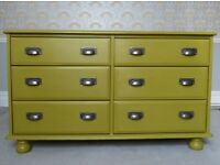 Painted 6 drawer Chest of Drawers/Sideboard