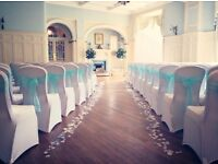 Lily Special Events offer wedding venue decor including chair covers, centrepieces, wedding post box