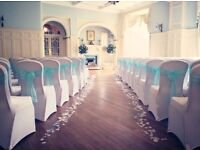 Lily Special Events offer wedding decor including chair covers, centrepiececes, post box & bay trees