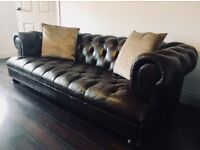 Sofa and Armchair Leather Chesterfield