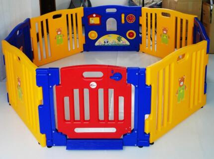 New MAMAKIDDIES Baby Child Kids 8 Sided Plastic Play pen Playpen Auburn Auburn Area Preview