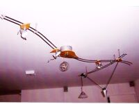 Beautiful ceiling light with spots and yoyo light