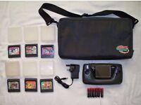 Sega game gear with games, case and power supply!!!
