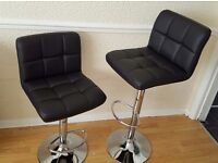 2 x faux leather kitchen stool breakfast swivel bar chair barstools