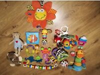 Baby toys, rattles Playgro, Garden Gang, Lamaze, VTech, Chad Valley and other