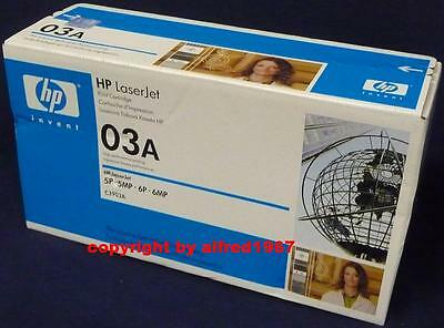 Original HP C3903A 03A Toner OVP Ware Laserjet LJ 5P 5MP 5MV 6P 6MP NEU Rechnung (Hp Laserjet 03a)