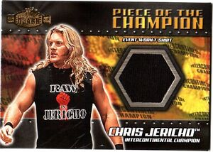 WWE-Chris-Jericho-2001-Fleer-Championship-Clash-Event-Worn-Shirt-Card-Black-WWF