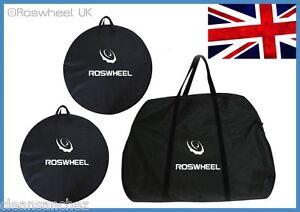 BIKE-TRAVEL-TRANSPORT-FRAME-WHEEL-BAG-cycle-bicycle-box-case-luggage-set-UK