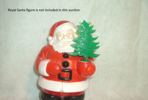 REPLACEMENT PLASTIC TREE for HAND OF VINTAGE CHRISTMAS  ROYAL SANTA or SNOWMAN